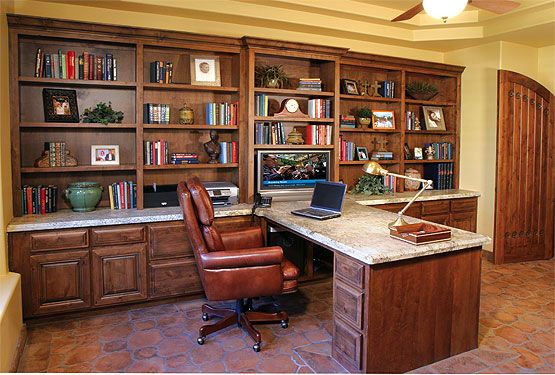 Built In Office With Granite Top Stone Creek Furniture Home Office Layouts Built In Furniture Built In Desk