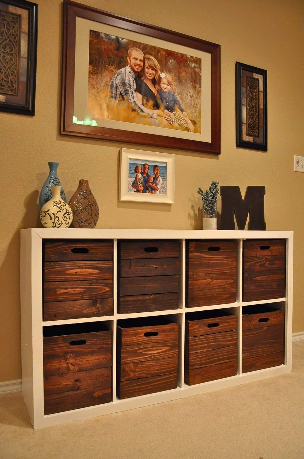 Diy storage and wooden crates i am in love with this i for Diy room storage