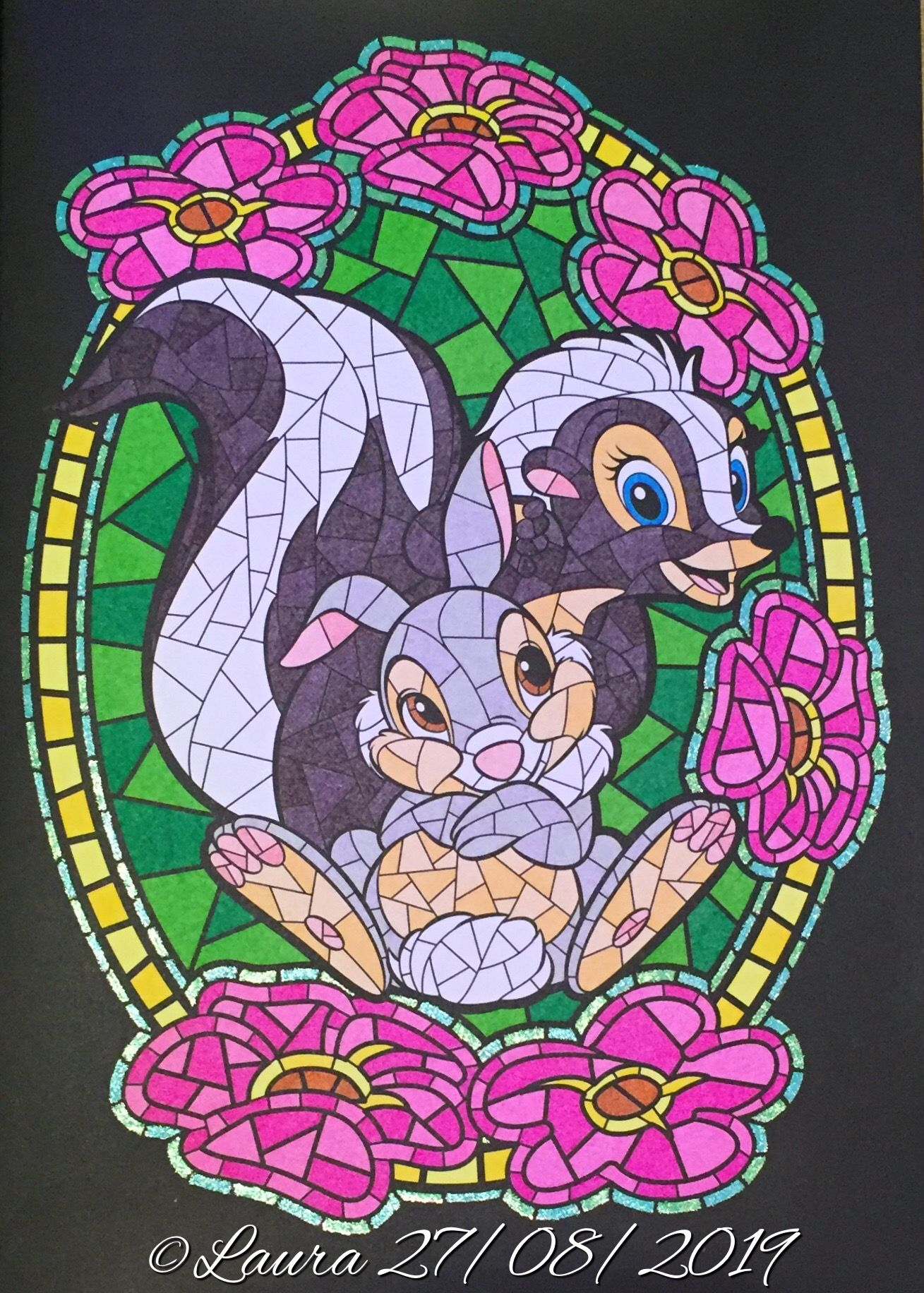 Thumper and Flower (Bambi) from Hachette Heroes Disney Vitraux