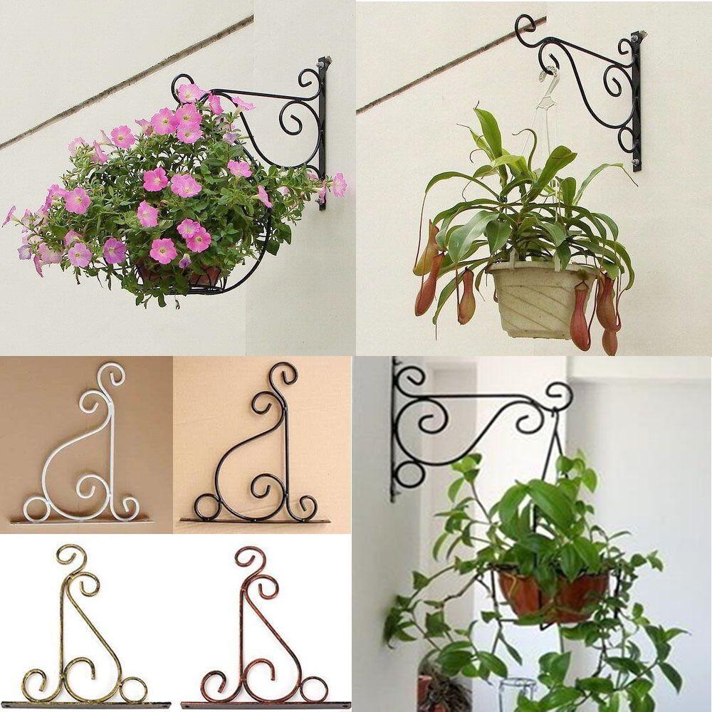 Iron Wall Light Hook Bracket Garden Hanging Basket Planter Lantern Hanger Hook Iron Wall Lighting Garden Wall Lights Light Hooks