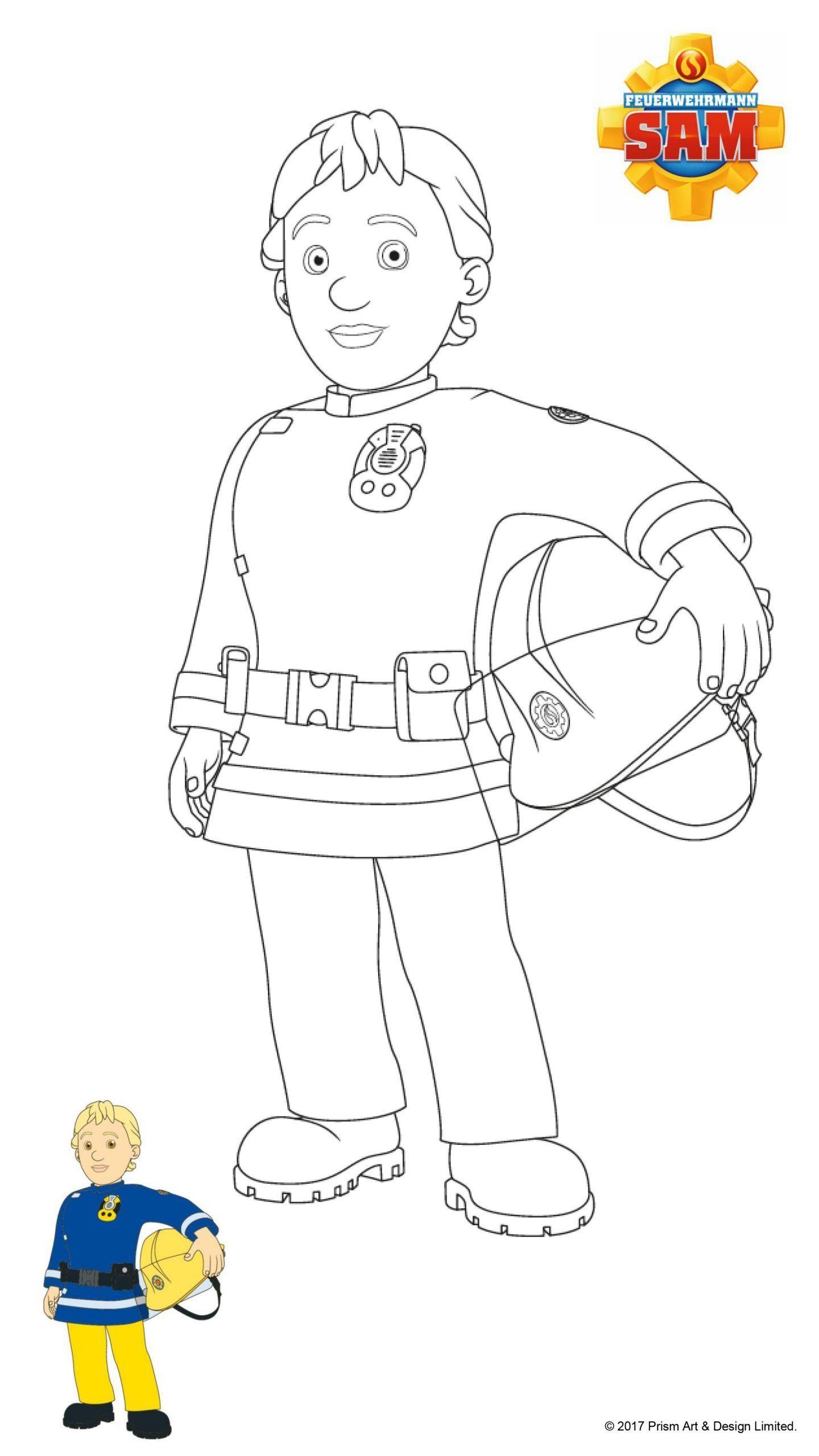 Malvorlagen Feuerwehrmann Sam Kostenlos