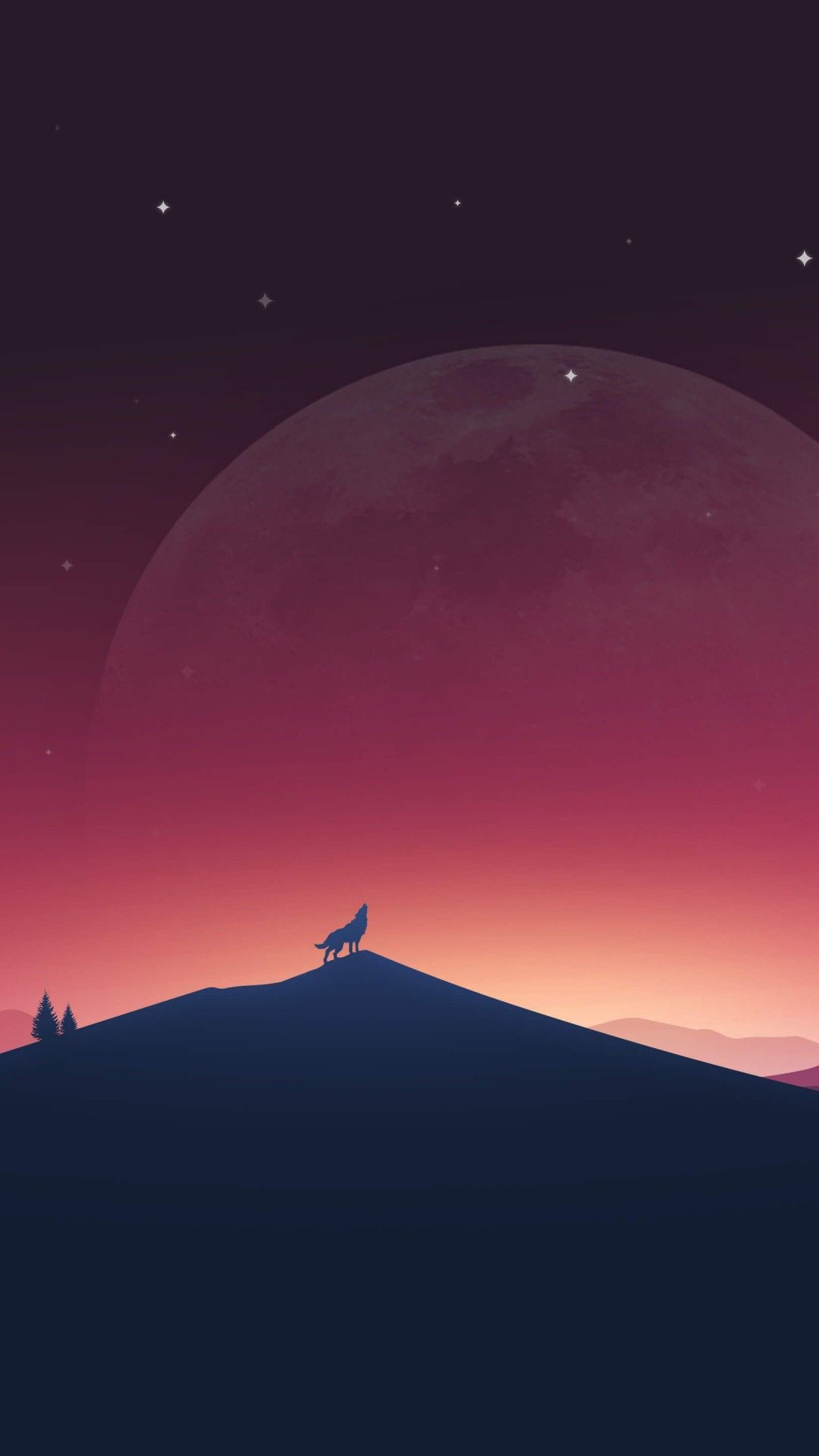 Download Wolf Howling At The Moon Hd Wallpaper For Xperia Z2 Christmas Wallpapers Tumblr Wolf Wallpaper Christmas Tree Art