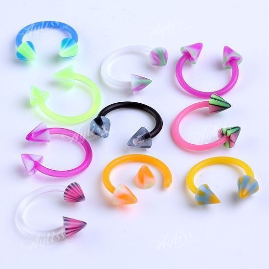 Non piercing Fake Hoops Body Jewelry 10pc gold