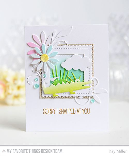Handmade card from Kay Miller featuring Jungle Friends Card Kit #mftstamps