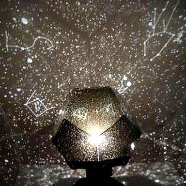 DIY Romantic Galaxy Starry Sky Projector Night Light (2xAA/USB) 2018    $12.34