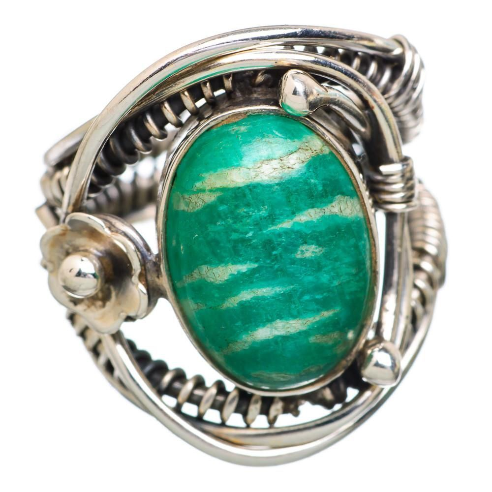 Ana Silver Co Amazonite Flower 925 Sterling Silver Ring Size 5.75 RING815706