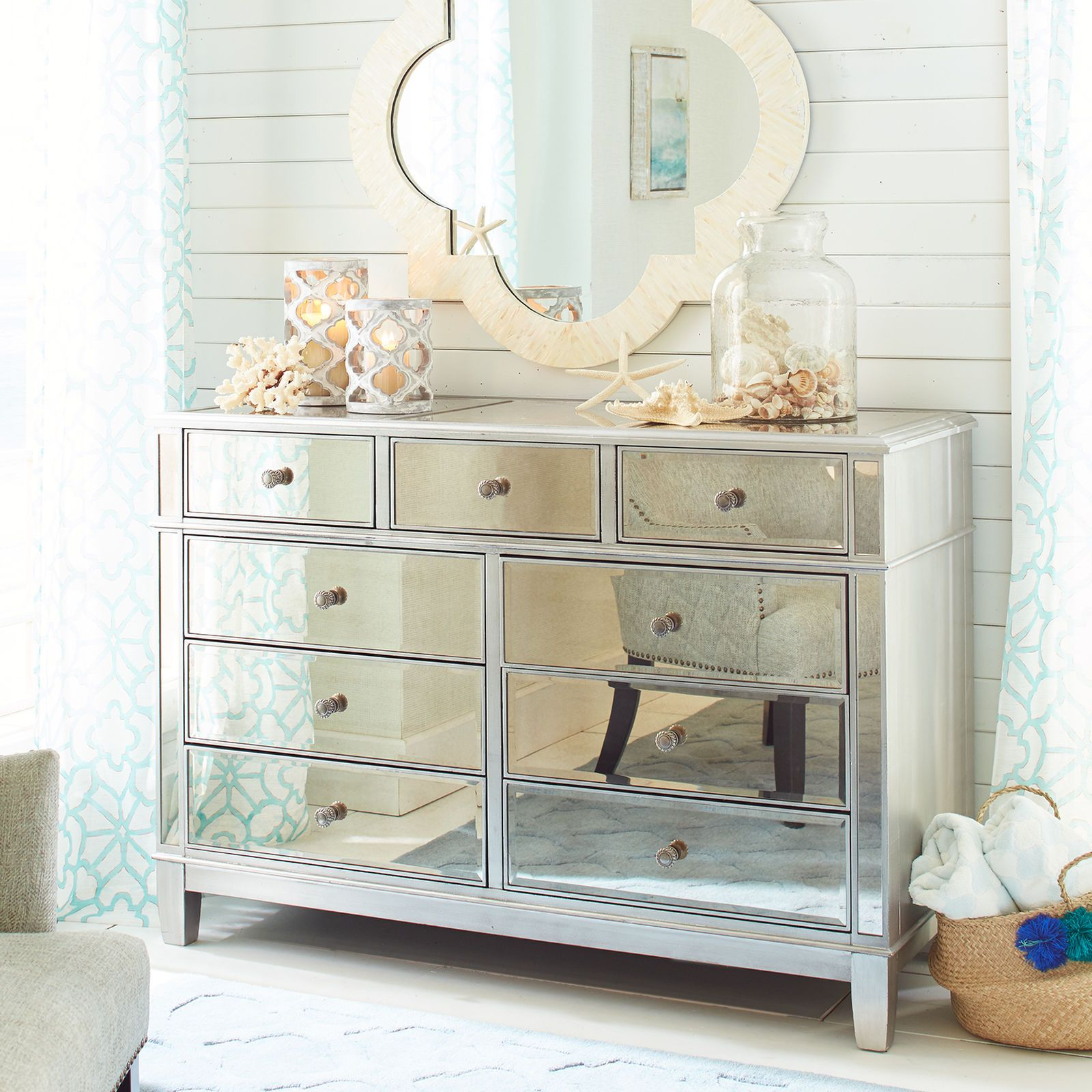 image result for mirrored dresser  mirrored bedroom