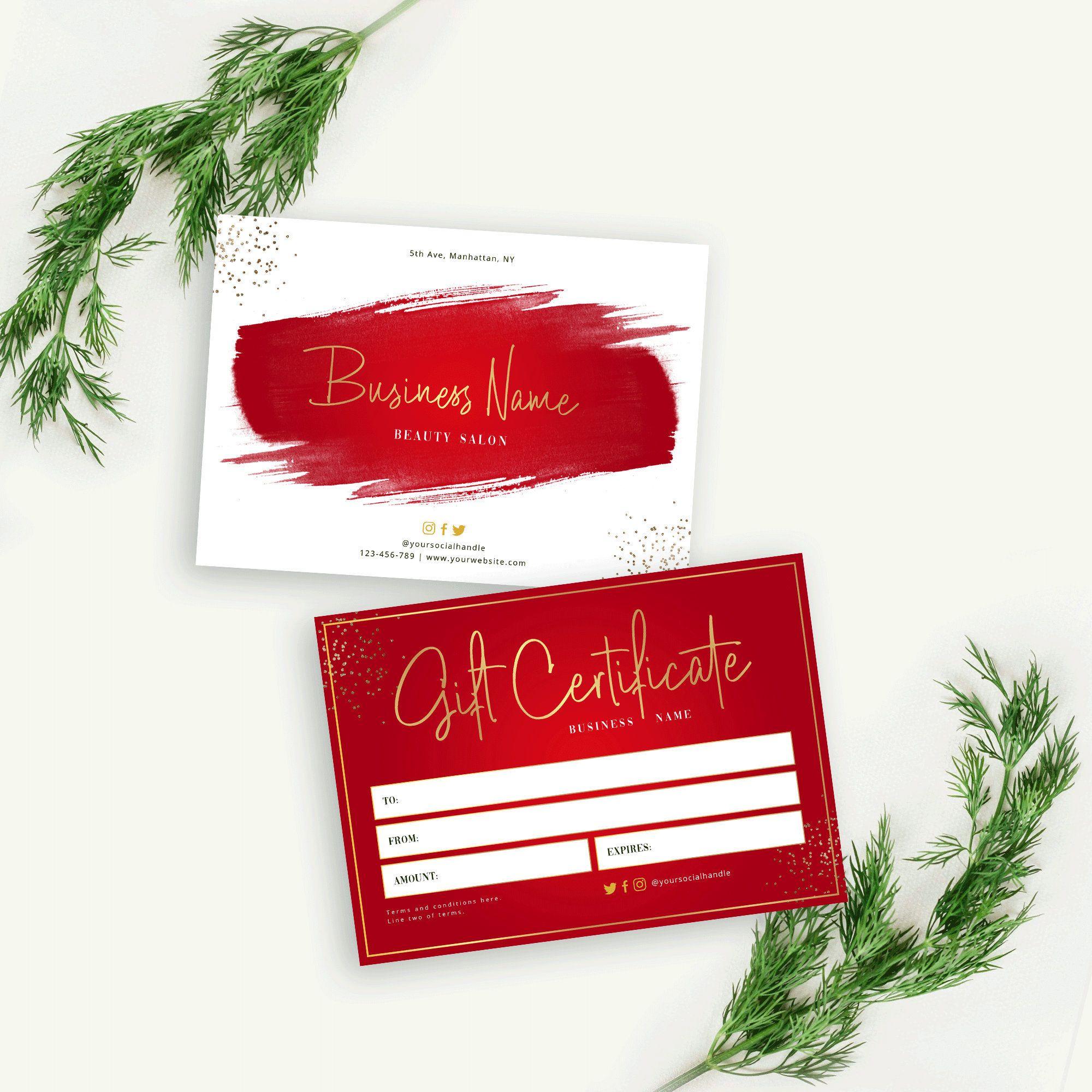 Editable Gift Certificate Template Christmas Gift Voucher Etsy Christmas Gift Vouchers Gift Certificate Template Holiday Gift Certificates