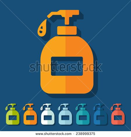 Flat Design Liquid Soap Stock Vector Vector Clip Art Vector