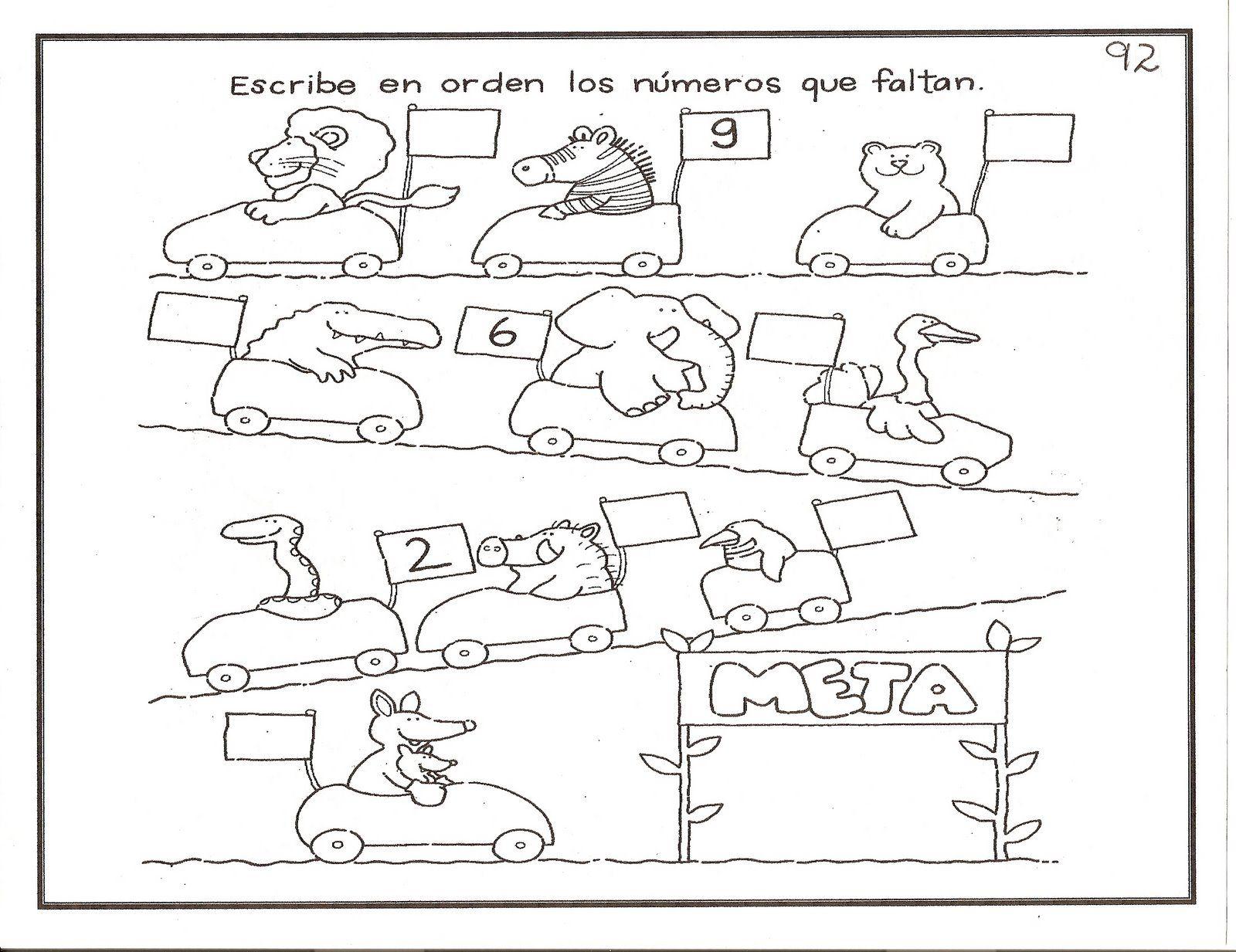 Recursos para el aula: Fichas para niños de 3-6 años Fichas gratuitas para