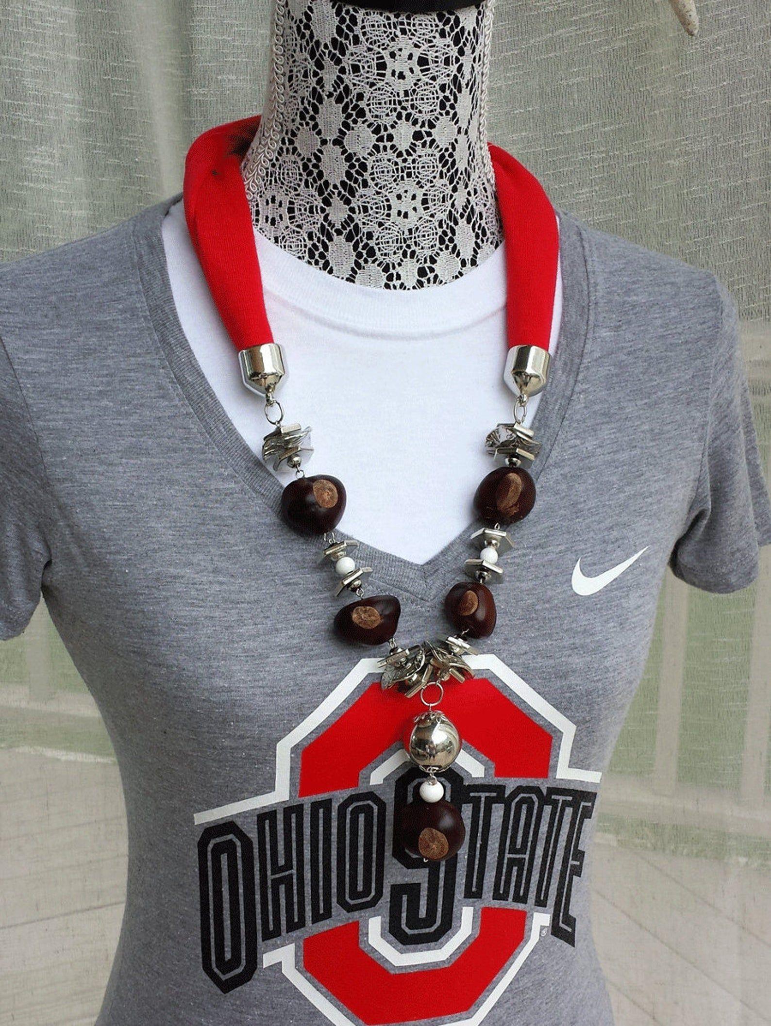 Ohio State Buckeye Jersey Necklace #ohiostatebuckeyes Ohio State Buckeye Jersey Necklace image 0 #ohiostatebuckeyes