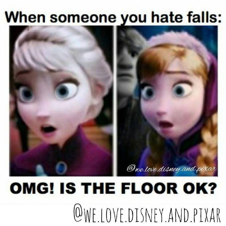 Frozen Memes Hilarious Elsa 9 In 2020 Funny Disney Memes Funny Disney Jokes Disney Funny