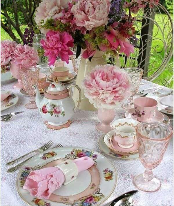 Beautiful setting for a tea party | 111TEA PARTY | Pinterest | Tea ...