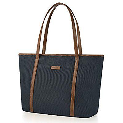 962a38b6fd66b CHICECO Nylon Arbeit Shopper Tasche Handtasche Damen - Blau und Braun  blau   braun  tasche  shopping  frauen