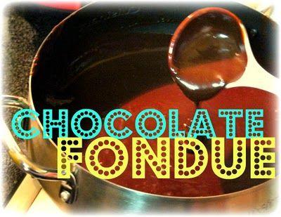 {Chocolate Fondue} | Chocolate fondue, Fondue recipes, Fondue