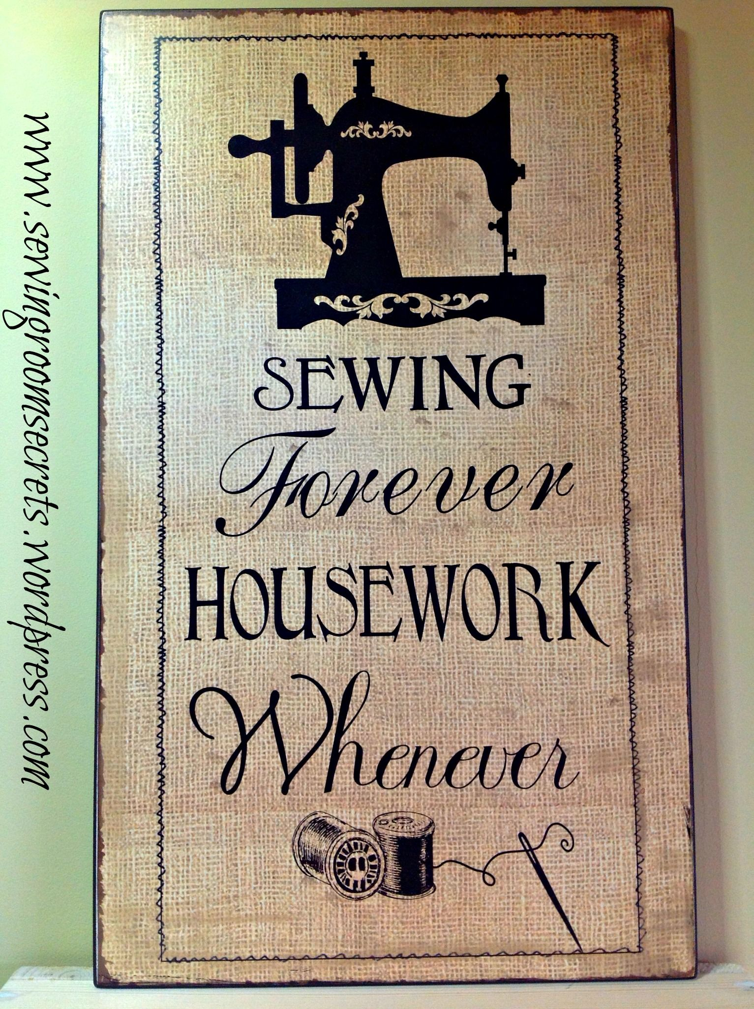 fun wall plaque for my sewing room