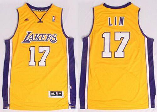 97c196471 Los Angeles Lakers  17 Jeremy Lin Revolution 30 Swingman Yellow Jersey