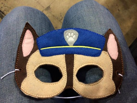 Chase mask costume mask by RagansCrazyCreations on Etsy