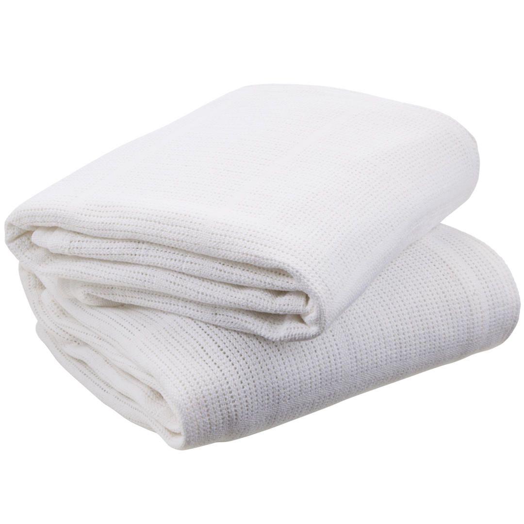 Pram /& Travel Soft Cotton Cellular Baby Blankets Pack of 2