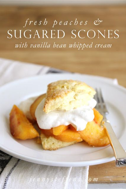 Jenny Steffens Hobick: Fresh Peaches with Sugared Scones | And... My New Store Coming Soon!