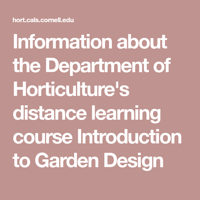 Information about the Department of Horticulture's ...