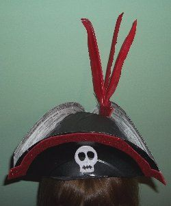 pirate hat made from paper plates .. awesome! & pirate hat made from paper plates .. awesome! | pirate crafts for ...