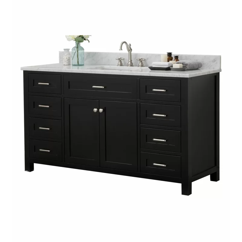 "Basinger 60"" Single Bathroom Vanity Set In 2020"