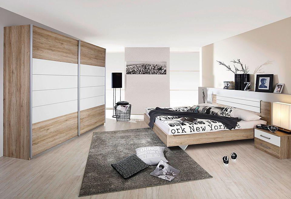 rauch PACK`S Schlafzimmer-Set, mit Kleiderschrank (4-tlg) Jetzt - schlafzimmer komplett weiß