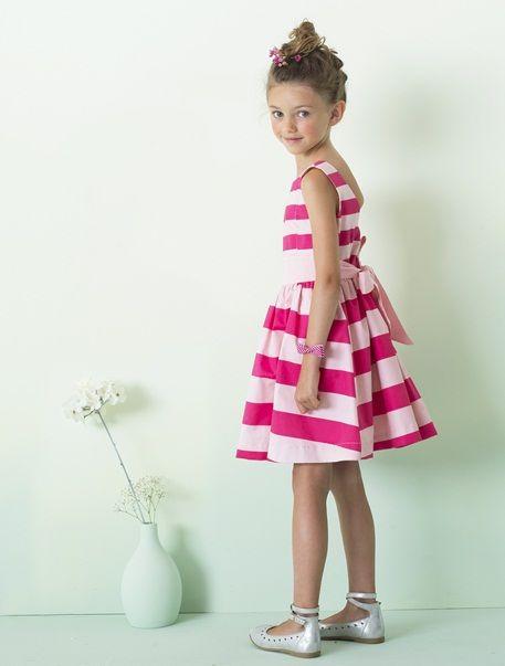 ea2db8eaff5801 gestreiftes Kleid in rosa  vertbaudet  festmode  kleid