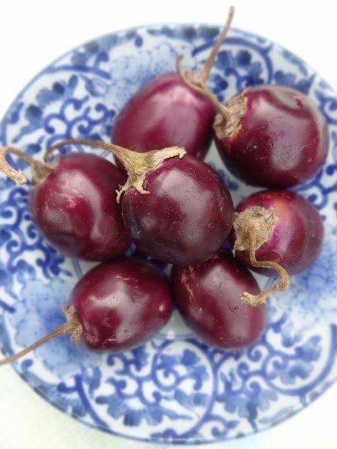 Scrumpdillyicious: Achari Baingan: Spiced Mini Eggplant in Tomato Sau...