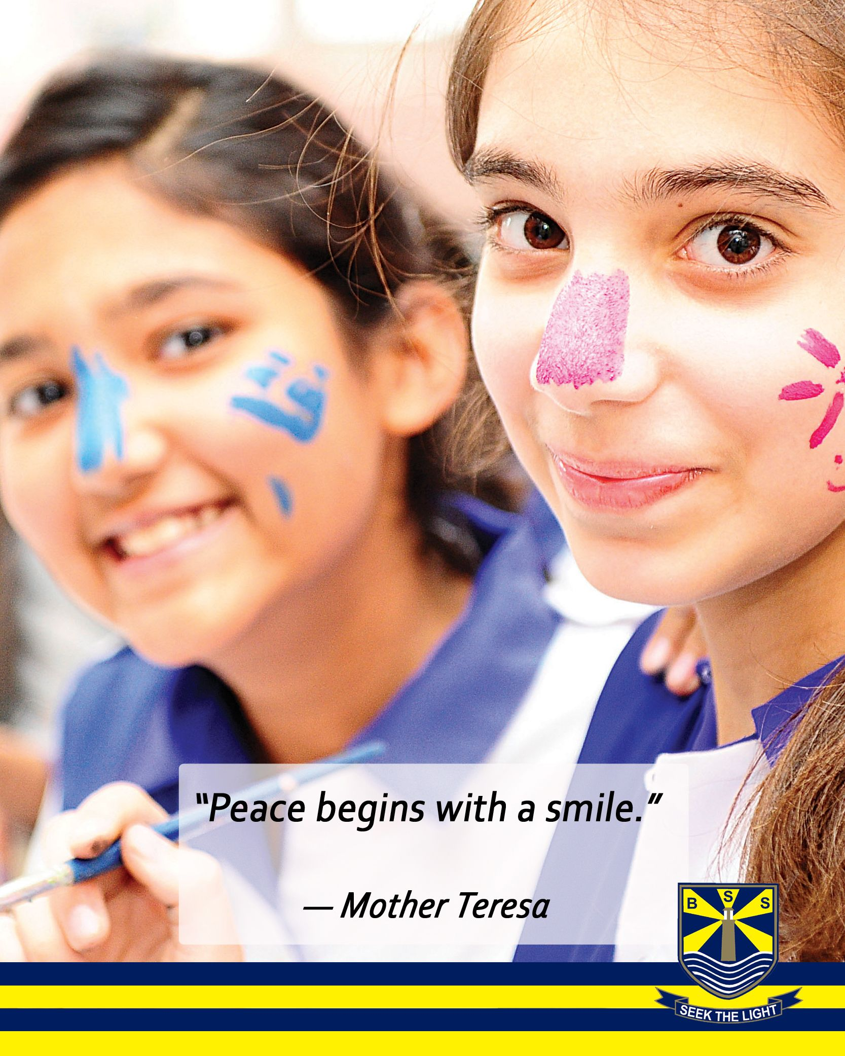 Peace Begins With A Smile Mother Teresa