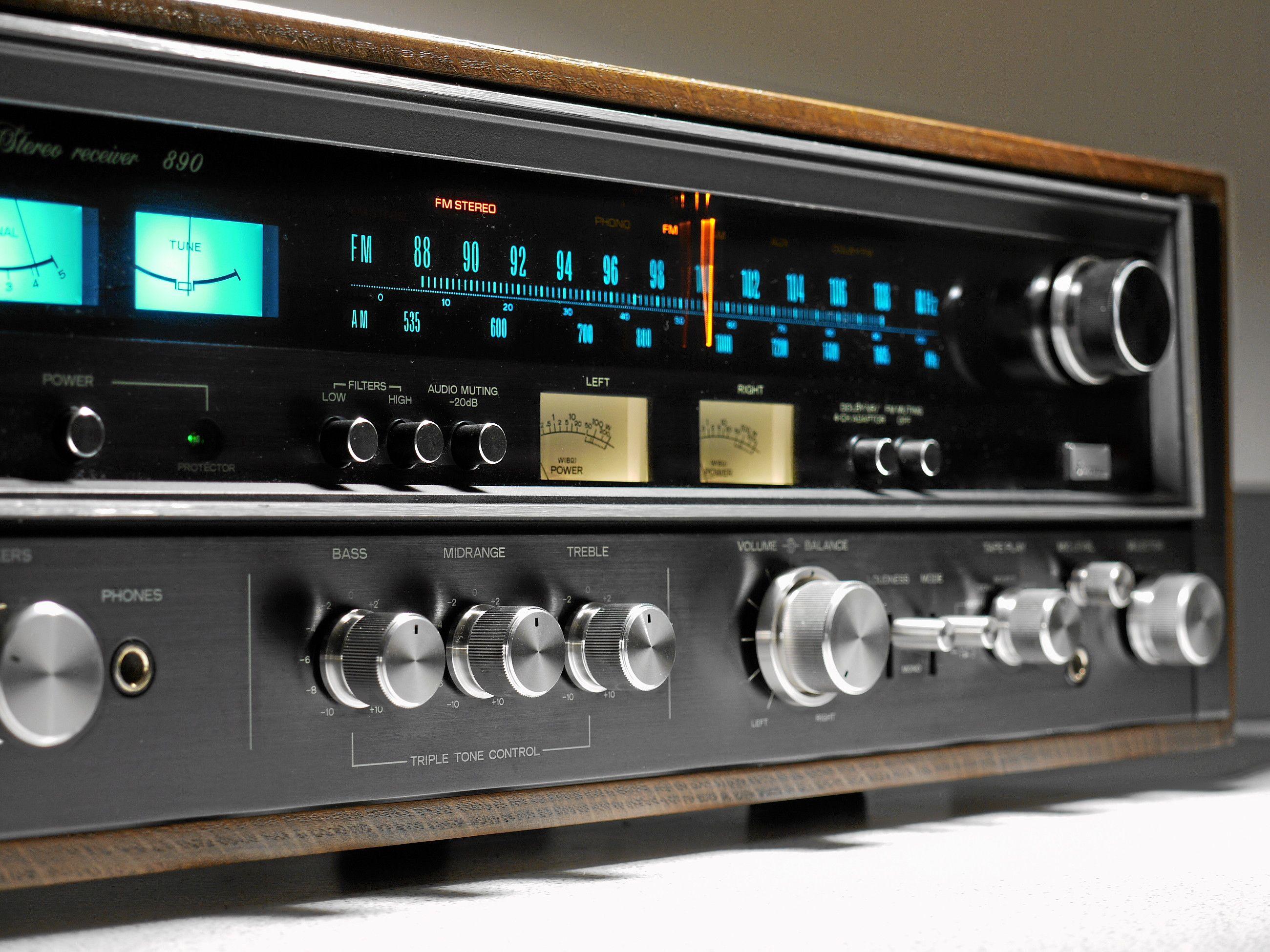 Sansui 890 Stereo Receiver Audiophile Turntable Vintage Electronics Hifi