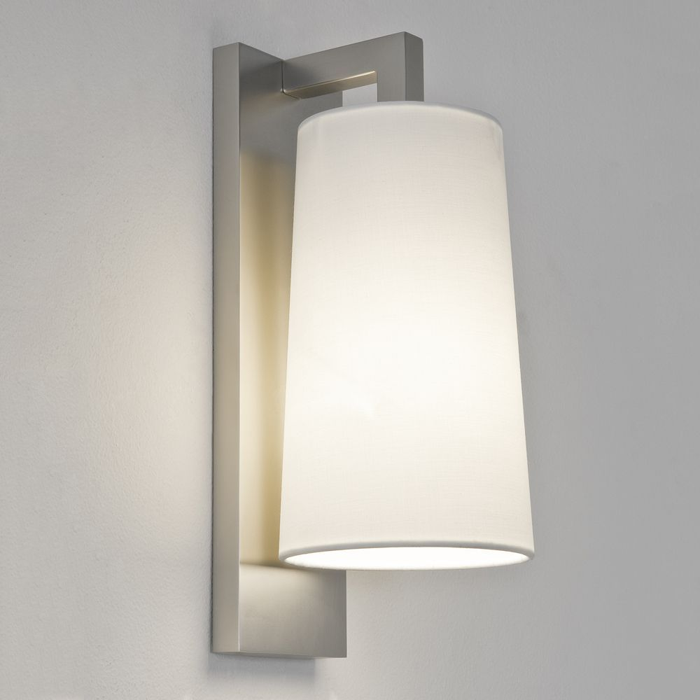 The Lago 280 Wall Light Is Finished In Matt Nickel And Rated At Adds A Modern Unique Finish To Any Bathroom Shade Not Included