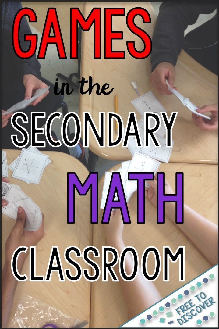 Games in the Secondary Math Classroom | Math class, Math and High school