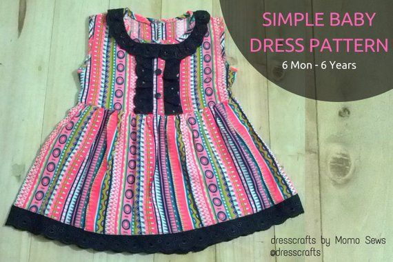 41918ea747451 Simple Baby Dress Pattern by Dresscrafts ( 6Mon-6T) - PDF Pattern ...