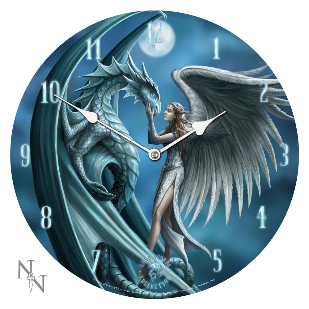 Silverback wall clock by anne stokes fairy u dragon clock