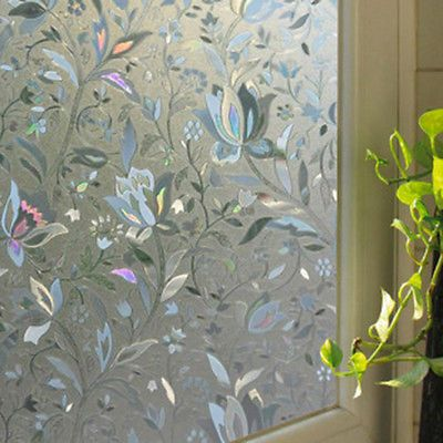 Waterproof pvc privacy frosted glass film home bedroom bathroom window sticker