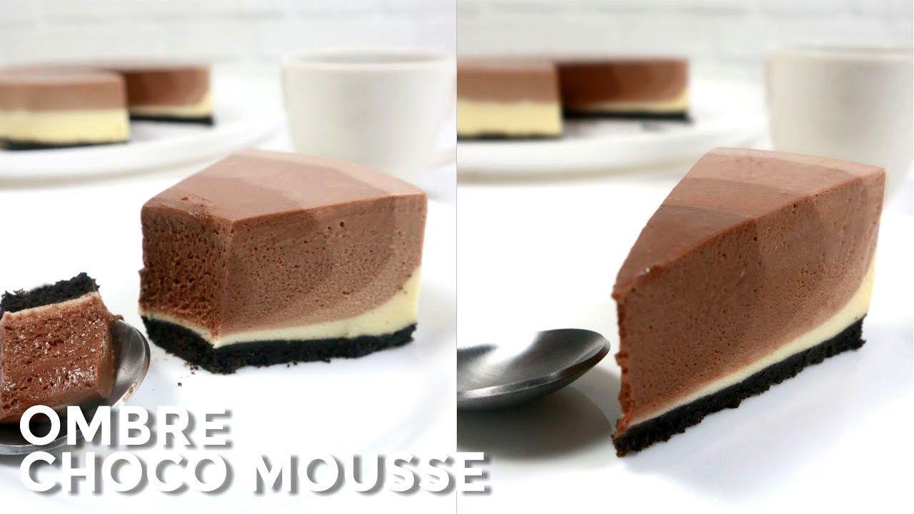 Ombre Chocolate Mousse Lembut Dan Lumer Di Mulut Nyaam Resep Recipe Resepombrecohocolatemousse Ombrecohocola Chocolate Mousse Chocolate Mini Cheesecake