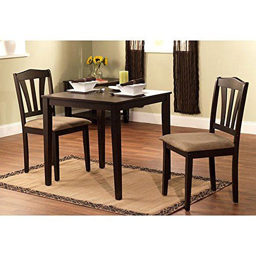 Harewood 3 Piece Dining Set Constructed Of Sturdy Rubber Wood