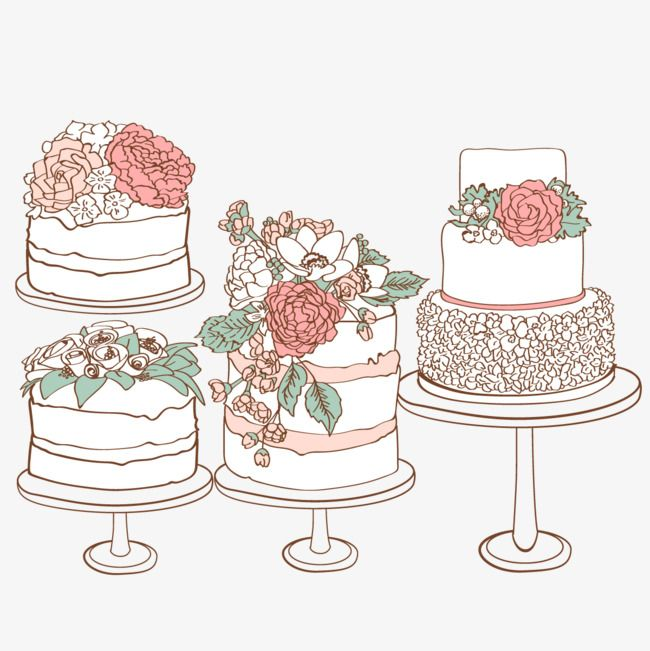 Vector Wedding Cake Rose Food Layer Cake Png Transparent