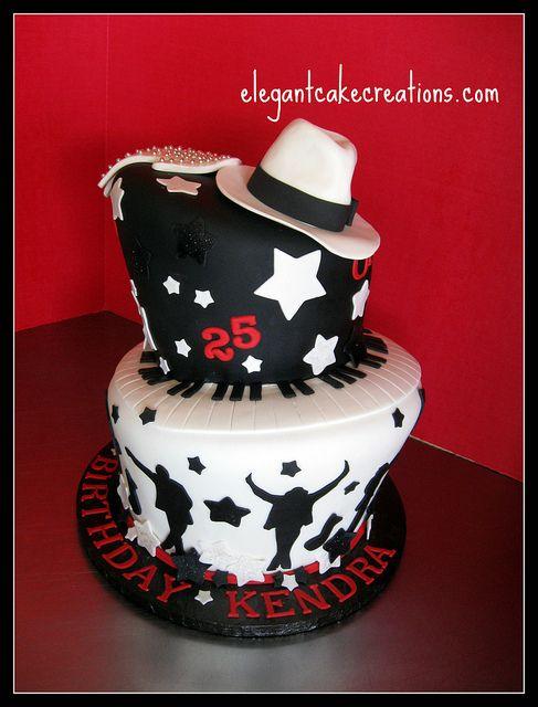 MJ Theme Birthday Cake by Elegant Cake Creations AZ