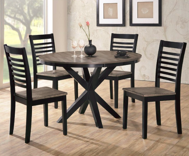 The Simmons South Beach 5 Piece Dining Set Is Modern Yet Classic Shopko Dining Table Round Dining Table Dining Room Sets