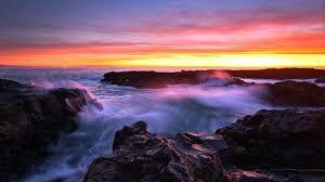 Resultado de imagem para por do sol no mar wallpaper