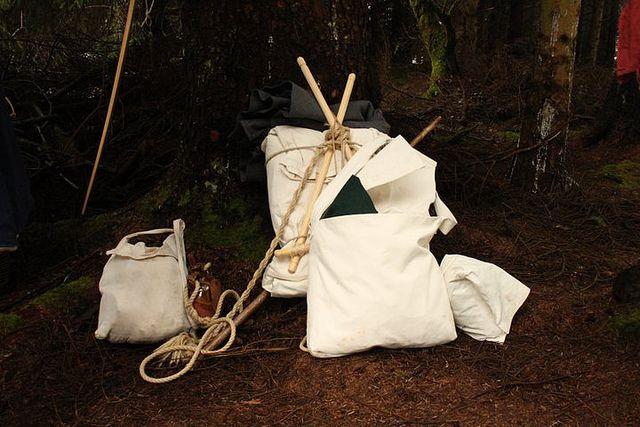 A Frame rucksack