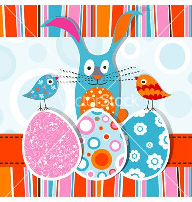 Template Easter Greeting Card Vector On Vectorstock  Vectorstock