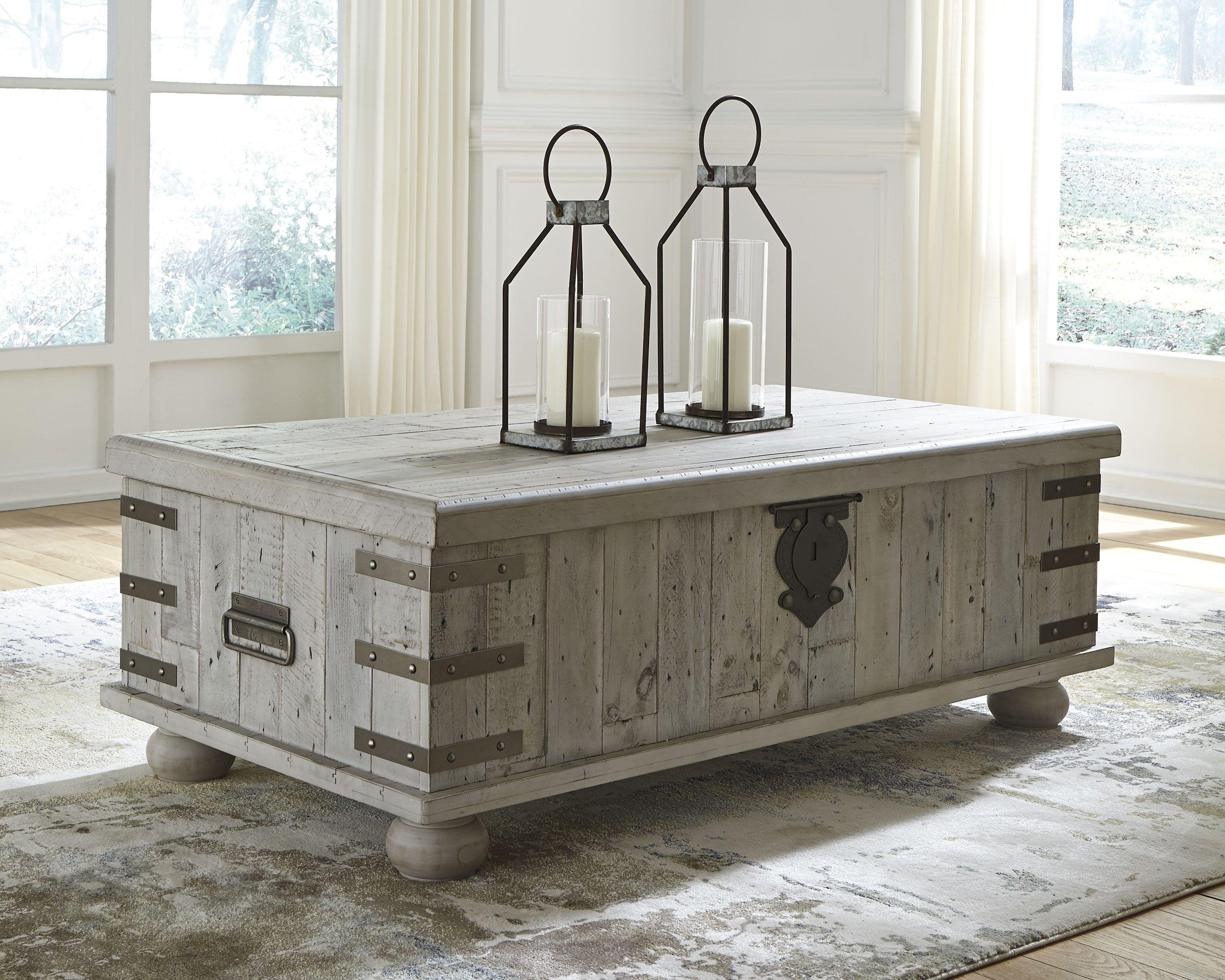 Stupendous Carynhurst Coffee Table White Wash Gray Ashley Furniture Ibusinesslaw Wood Chair Design Ideas Ibusinesslaworg