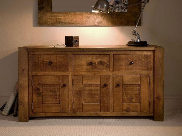 Indigo Furniture Matlock Junk Panel 3 Drawer Indigo Furniture