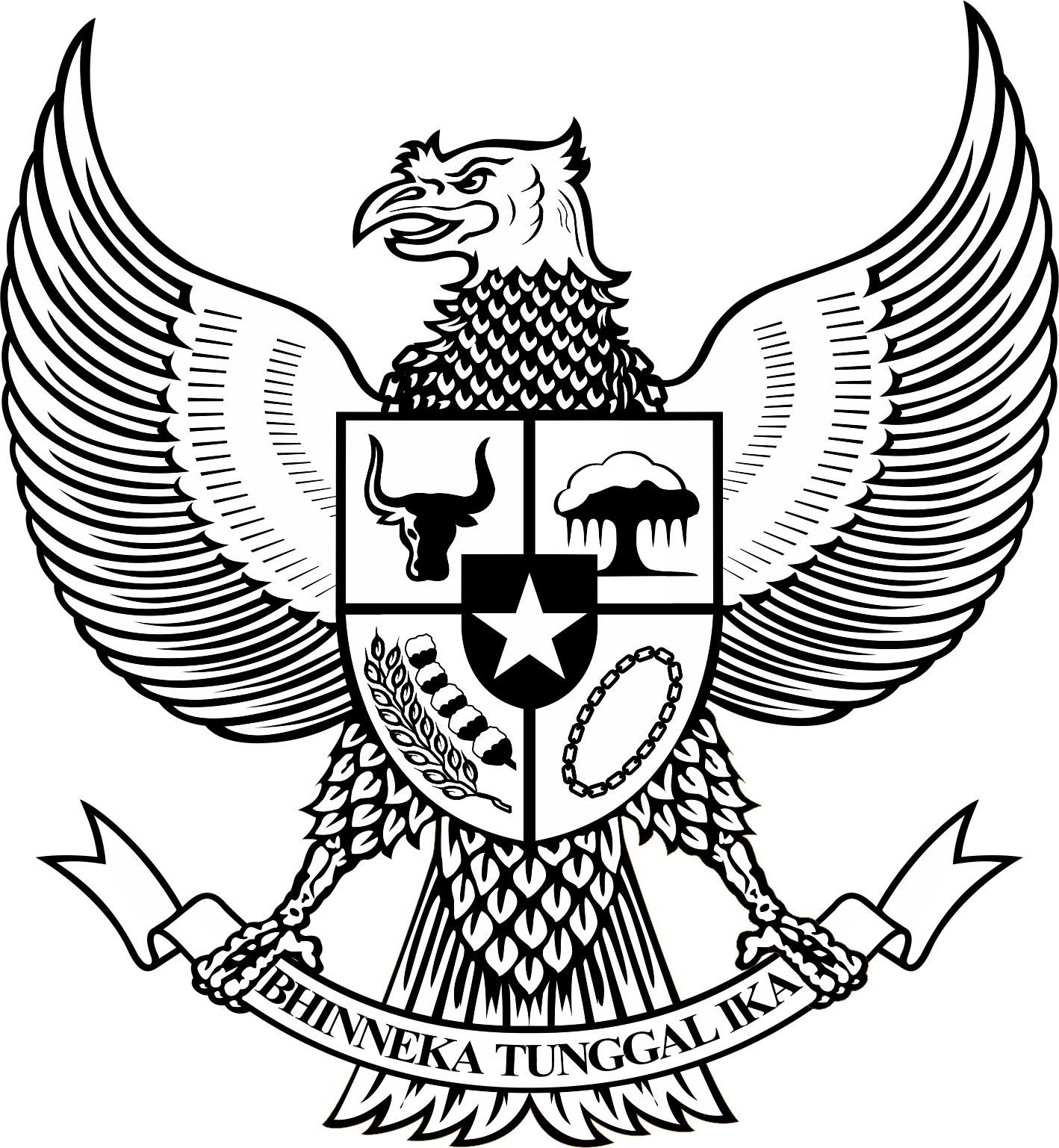 logogarudapancasilabwhitamputih Gudang Logo