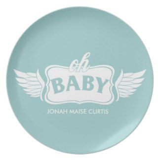 Oh baby boy personalized shower gift plate baby shower plate oh baby boy personalized shower gift plate negle Gallery