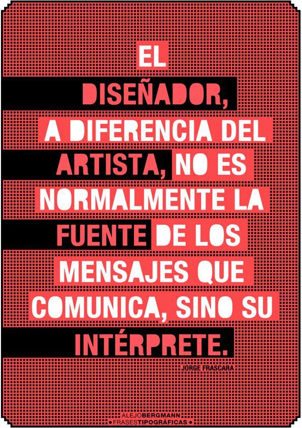 diseño gráfico] - posters con frases tipográficas